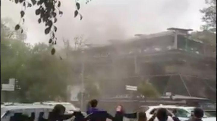 VIDEO: Reportan incendio en restaurante 'La Buena Barra' ubicado en Polanco