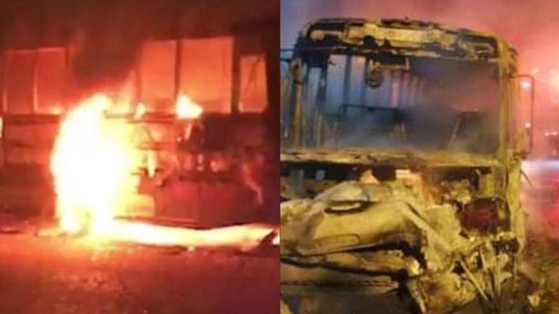 'Empalmazo': Guardia Nacional se enfrenta a comando armado en Sonora; incendian camión y tienda