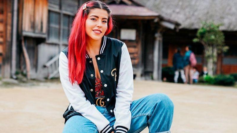 Lesslie de 'Los Polinesios' da cátedra de estilo con colorido outfit neón y atrevido peinado