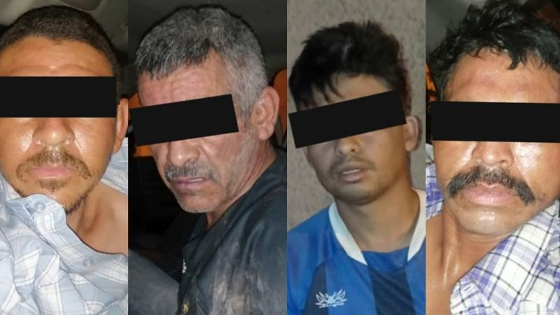 Identifican a los cuatro sicarios capturados tras violento enfrentamiento en Empalme
