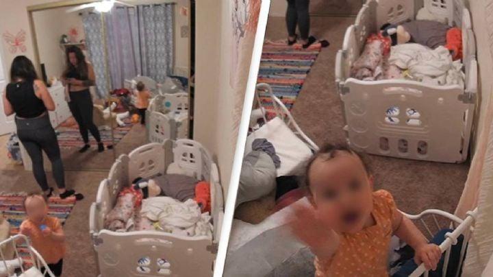 Macabro hallazgo: Madre escucha voces que provienen de la cámara de vigilancia de su bebé