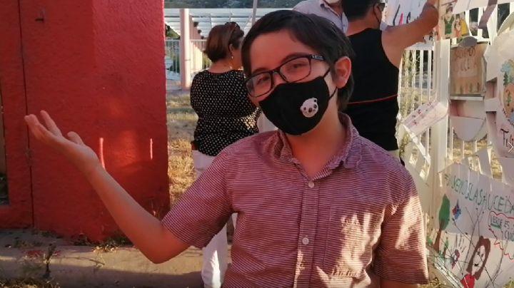 """A sus 10 años, el pequeño Luis Elí busca rescatar La Sauceda: """"Por favor, abran el parque"""""""