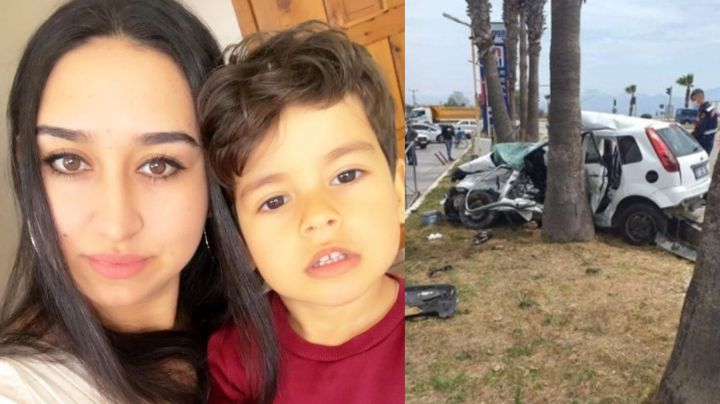FUERTE VIDEO: Cumpleaños acaba en tragedia; madre y su hijo de 5 años mueren en brutal choque