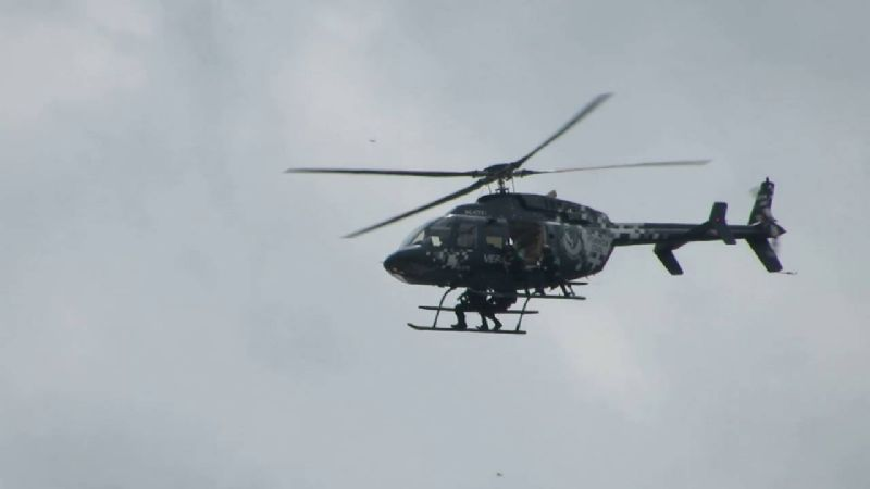 NL: Grupo armado ataca a helicóptero de Fuerza Civil; piloto resulta lesionado