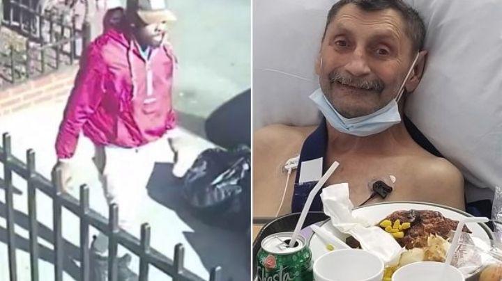 """""""Salió de la nada"""": Atacan a un 'abuelito' en la calle; le fracturaron el hombro"""