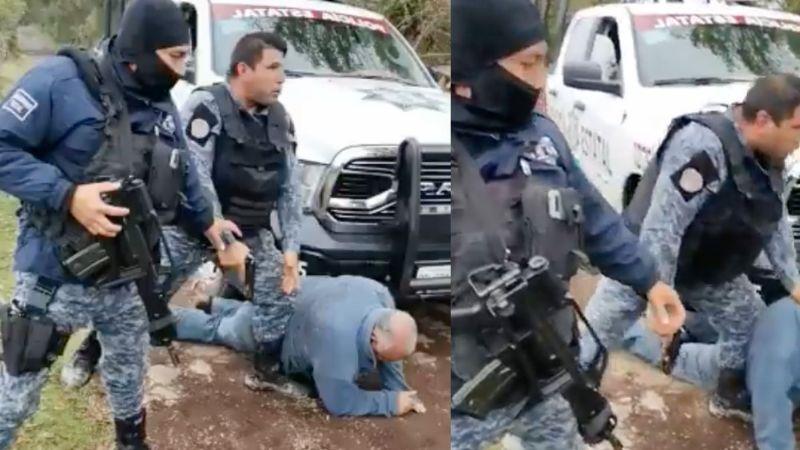 """""""No me grabes pu..."""": Policía somete a anciano a plena luz del día y exhiben el brutal VIDEO"""