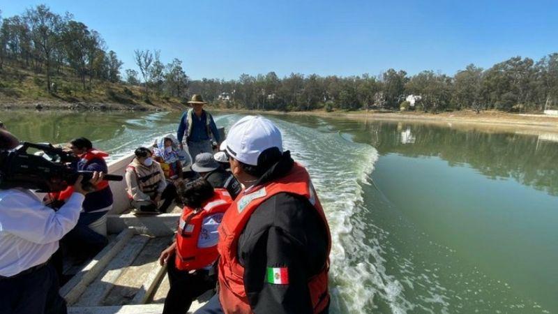 Lamentable: Menor de edad muere ahogada en Lago de Guadalupe; el fango hundió su cuerpo