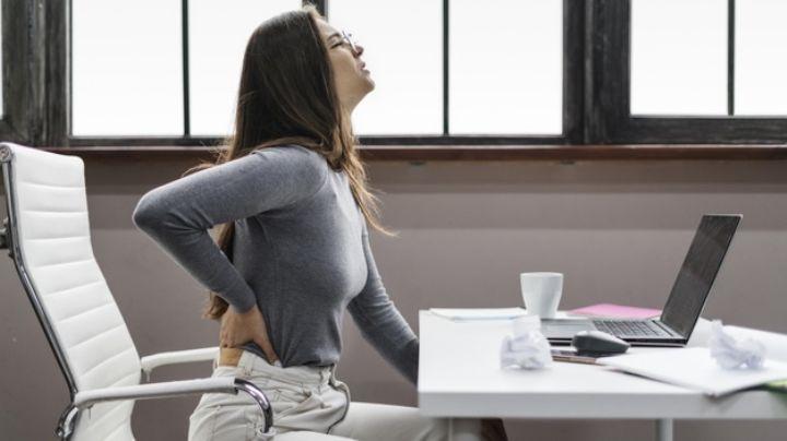 ¿Pasas mucho tiempo sentado? Ten cuidado tu dolor de espalda podría ser renal