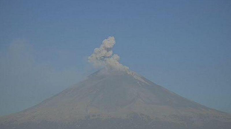 Volcán Popocatépetl registra con poca actividad pero se mantiene en alerta amarilla fase 2