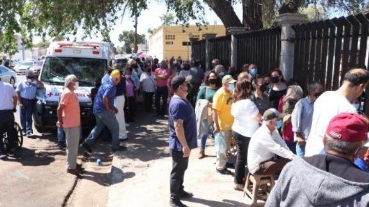 Nuevamente en desorden se reanuda vacunación contra el Covid-19 en Cajeme