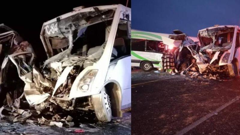 Sonora: Van 16 muertos tras brutal accidente entre mineros y turistas en carretera Caborca-Sonoyta
