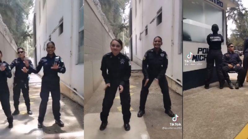 ''Soy un matón'': Policías se exhiben al bailar en TikTok durante servicio; son investigados