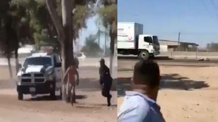 FUERTE VIDEO: Persecución acaba en muerte: Intenta huir de la Policía y lo atropella un tráiler