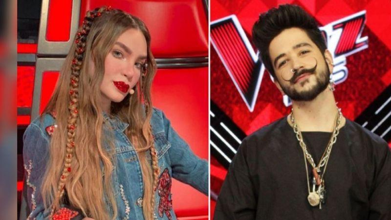 Belinda aparece muy juntita a Camilo en 'La Voz' y Christian Nodal los cacha, así reaccionó