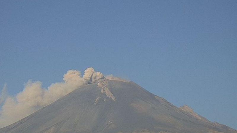 Volcán Popocatépetl acumula 31 exhalaciones y 10 sismos en las últimas 24 horas