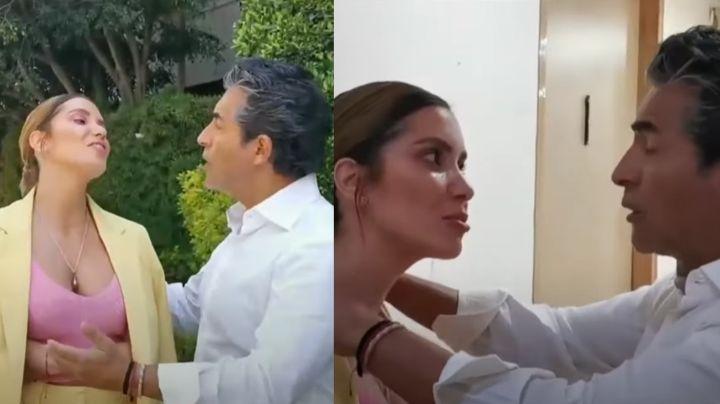 ¡Se dieron con todo! Andrea Escalona y Raúl Araiza se pelean en pasillos de Televisa