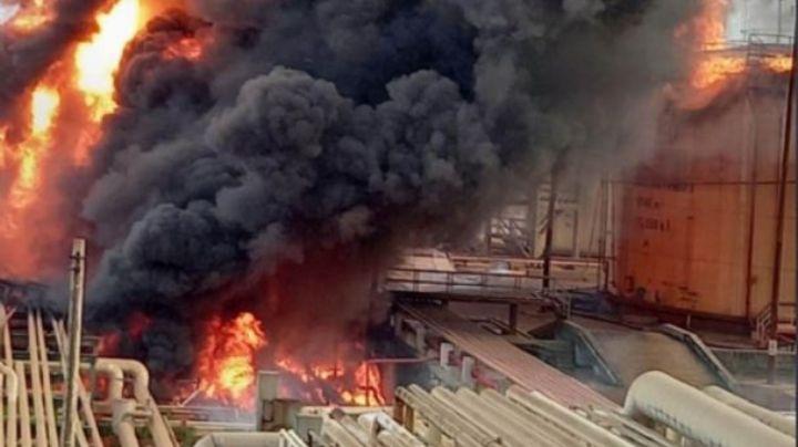 ¡Héroe! Trabajador de Pemex sofoca incendio de refinería en Veracruz; FOTO se hace viral