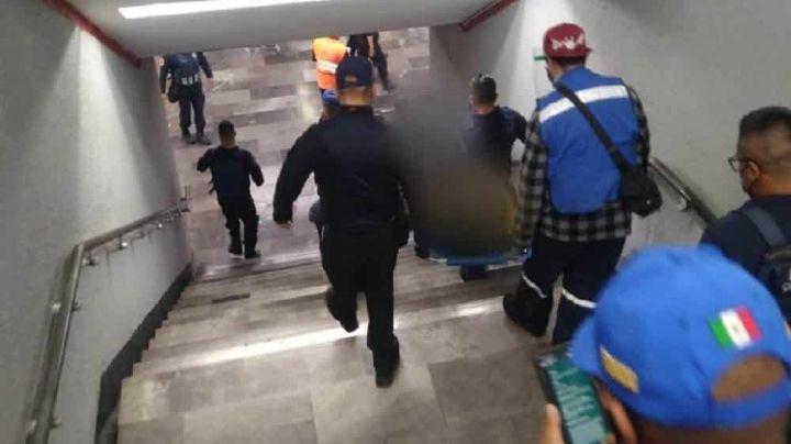 ¡Lamentable! 'Abuelito' muere mientras viajaba en el metro por posible paro cardiaco