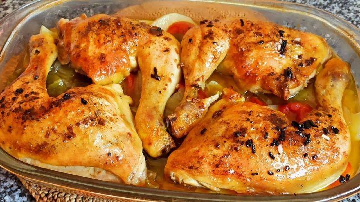 ¿No sabes qué comerás? Dale un giro a tus comidas con este pollo en salsa de cerveza