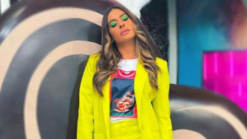 """Galilea Montijo paraliza a todo Televisa con espectacular 'outfit' rosado en 'Hoy': """"Sí me caso"""""""