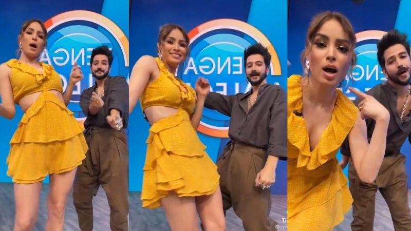 """Cynthia Rodríguez se luce en baile con Camilo desde TV Azteca y le advierten: """"Te va chin... Evaluna"""""""