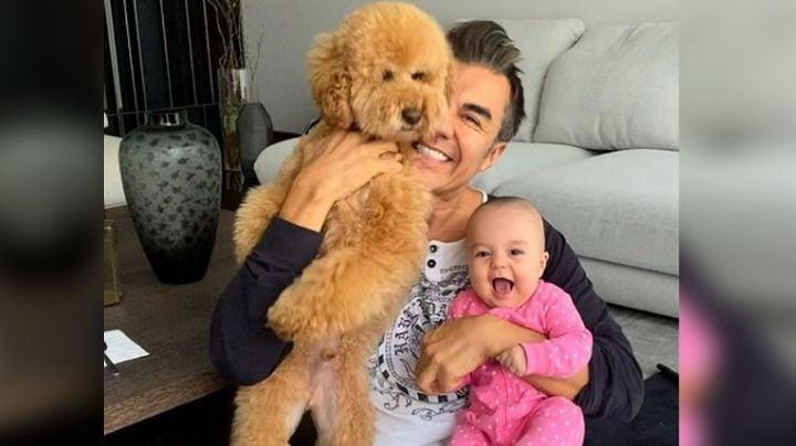 ¿Igualita al papá? Así luce Emily, la hermosa hija de Adrián Uribe a su casi medio año de vida