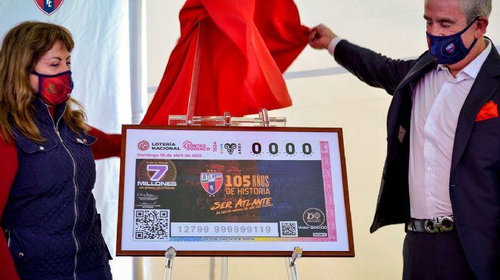 ¡Entérate! Atlante celebra sus 105 años con billete conmemorativo de la Lotería Nacional