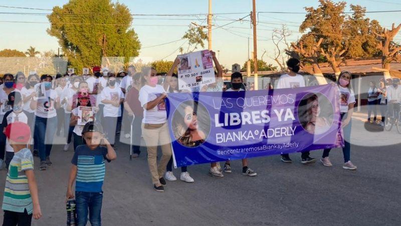 Cajeme: Familiares de las hermanas Mendoza se manifiestan en Quetchehueca