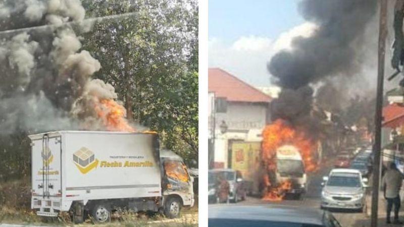 Caos en Michoacán: Civiles armados roban tráilers, queman vehículos y bloquean carreteras