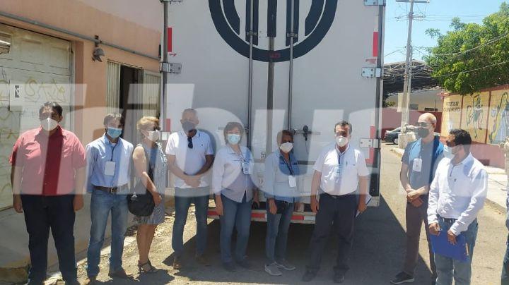 Resguardada por elementos de la Marina, llegan 320 mil boletas electorales del INE a Guaymas