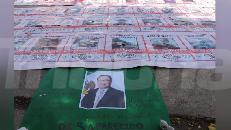 ¡Nada que festejar! Rastreadoras de Cajeme se manifiestan frente a Palacio por el Día de las Madres