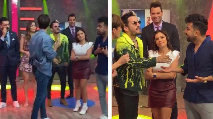VIDEO: ¡Adiós TV Azteca! Corren a integrante de 'VLA' por hacer grosería a Ricky Montaner en vivo