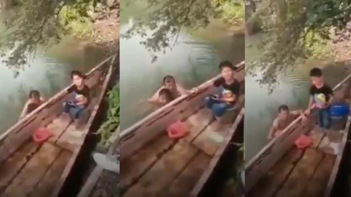 """""""Pin... viejo puerco"""": Exhiben en VIDEO a hombre que se bañaba desnudo con niña de 7 años"""