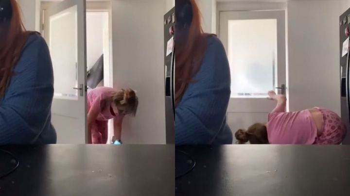 Mujer trata de pasar desapercibida durante reunión de Zoom de su hija; VIDEO se hace viral