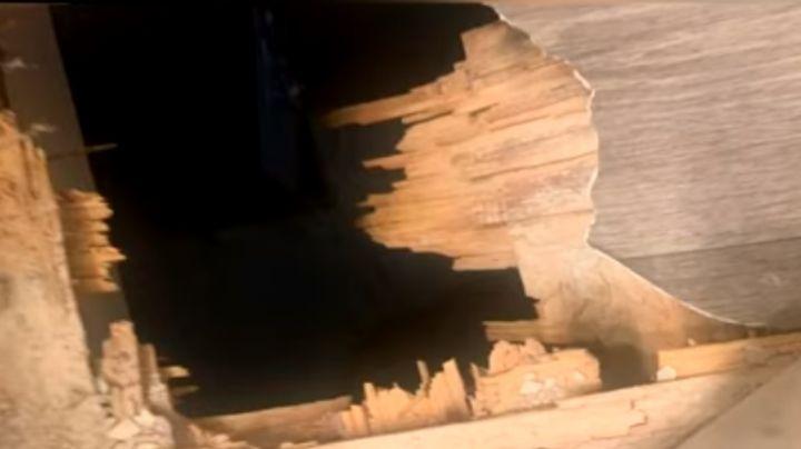 Al borde del vacío: Niño de 4 años queda colgando en un hueco de 3 metros de altura