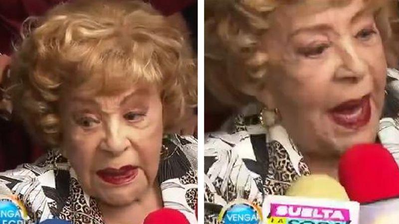 """""""Pura mad..."""": Silvia Pinal suelta grosería a la prensa tras polémica de Frida Sofía y Enrique Guzmán"""