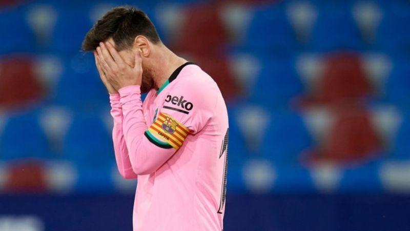 Levante, un Lio para el Barcelona: Logran empatar y le arrebatan el liderato de LaLiga