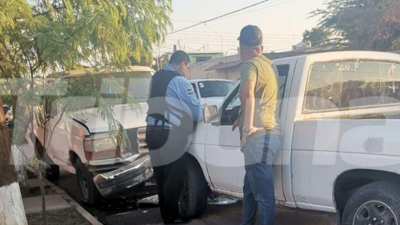 Aparatoso choque al sur de Ciudad Obregón deja como saldo una persona lesionada
