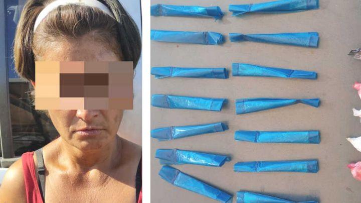 Atrapan a presunta 'tiradora' en Hermosillo; le descubren 19 envoltorios de metanfetamina