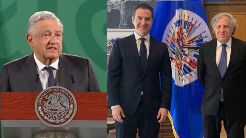 """Tras declaraciones de AMLO, Adrián de la Garza """"lucha por la democracia""""; acude a OEA"""