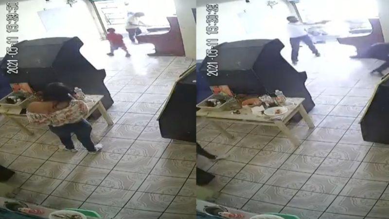 FUERTE VIDEO: Entre llantos y gritos, rafaguean y matan de 10 tiros a pareja frente a su hijo