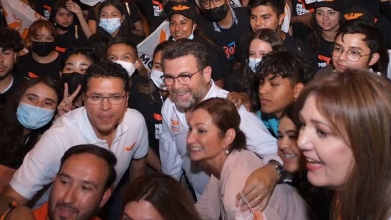 """Ricardo Bours pide a los jóvenes el voto para Movimiento Ciudadano: """"Estoy con ustedes"""""""