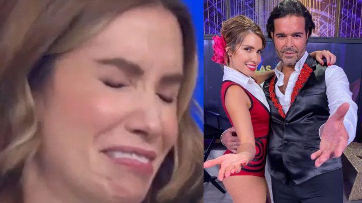 """Escalona estalla en Televisa y al borde del llanto contesta a críticas: """"Soy una chava que lo da todo"""""""
