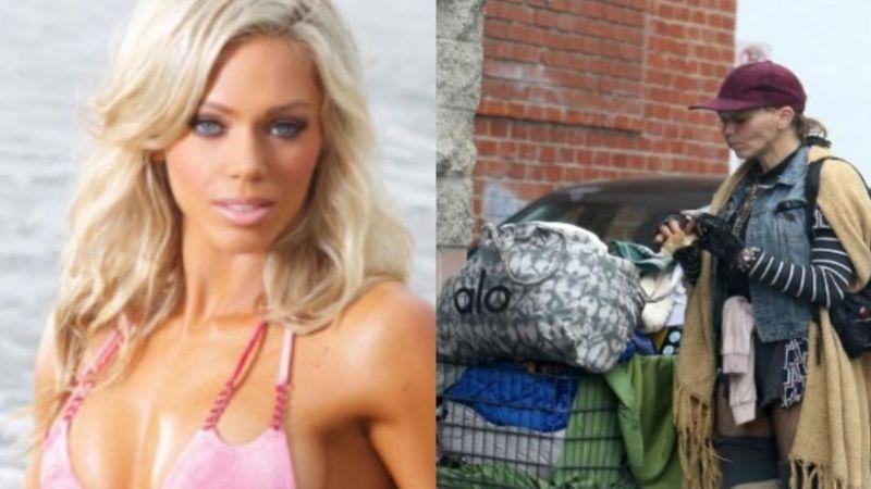 De la pasarela a la calle: Captan a exmodelo de Holywood buscando comida en la basura