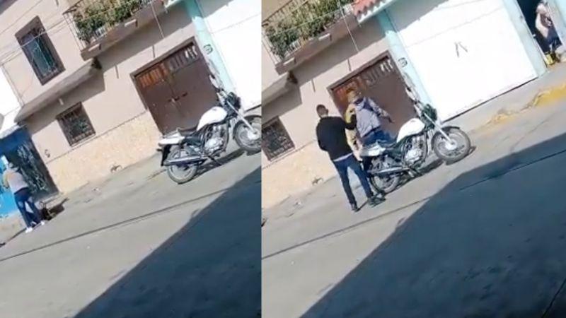 FUERTE VIDEO: A plena luz del día, matan a tiros a joven de 18 años y dejan 'narcomensaje'