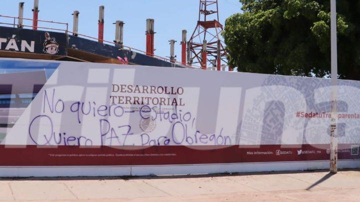 """""""Paz para Obregón"""": El contundente mensaje de rechazo al estadio de AMLO; van 248 asesinatos en Cajeme"""