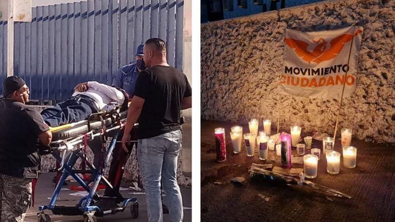 Cajeme, de luto: Ciudadanos montan altar callejero tras asesinato de Abel Murrieta, candidato de MC