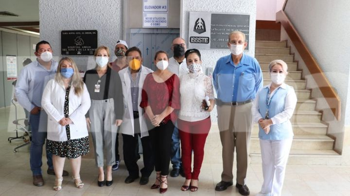 Autoridades del Issste inauguran elevador en sus instalaciones de Ciudad Obregón