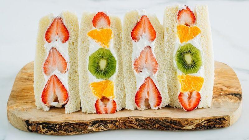 Reinventa el sabor del sándwich con esta fabulosa versión japonesa de frutas