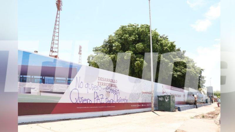 Cajeme: Secretaria de Desarrollo Urbano se deslinda de la limpieza de las pintas en el TOG